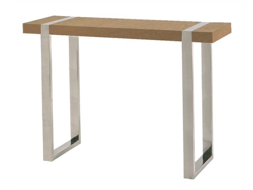 Rectangular wood veneer console table ORCA | Wood veneer console table by Branco sobre Branco