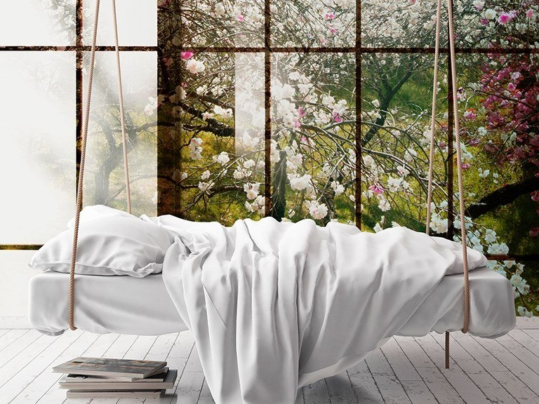 Digital printing trompe l'oeil wallpaper ORCHARD by Architects Paper