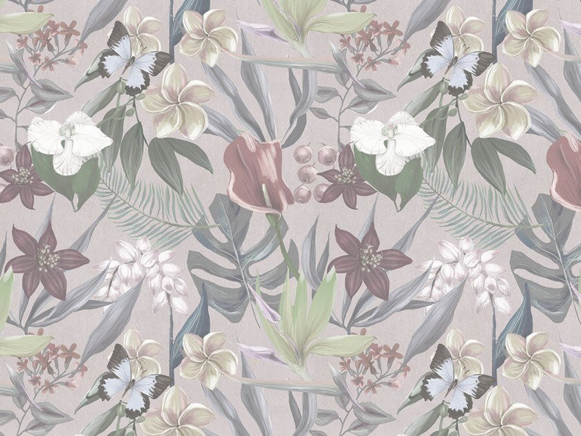 Digital printing wallpaper with floral pattern ORCHID GARDEN by Architects Paper
