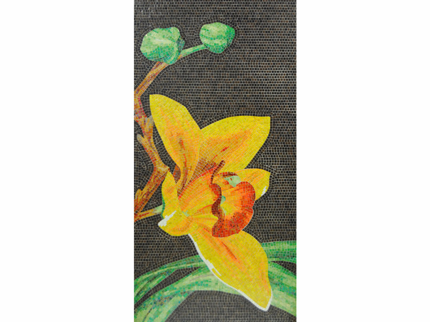 Stained glass mosaic ORCHIDEA A by FRIUL MOSAIC