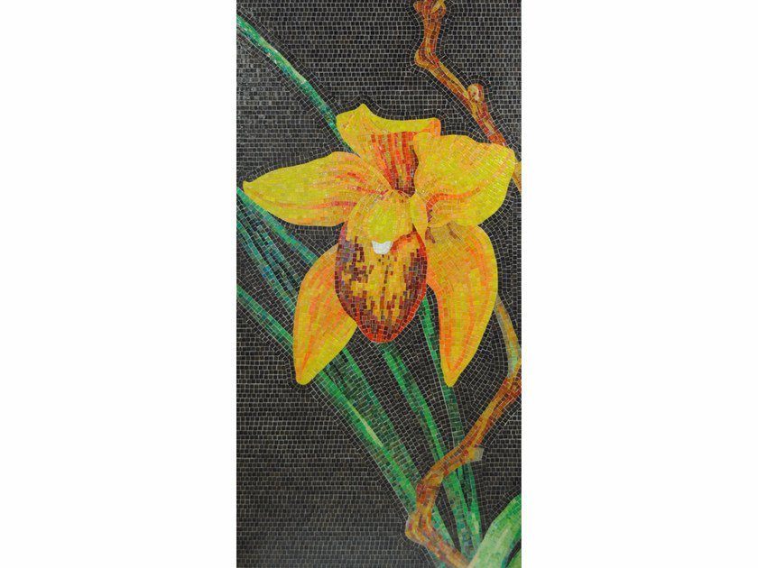 Stained glass mosaic ORCHIDEA B by FRIUL MOSAIC