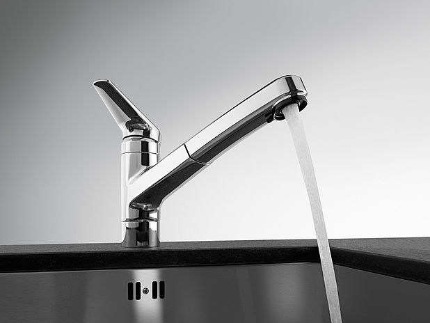 Countertop kitchen mixer tap with pull out spray KWC ORCINO | Kitchen mixer tap with pull out spray by KWC
