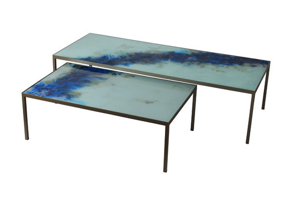 Rectangular glass coffee table ORGANIC | Rectangular coffee table by Notre Monde