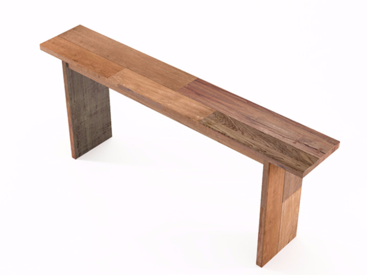 Rectangular wooden console table ORGANIK OR03-TMH | Console table by KARPENTER
