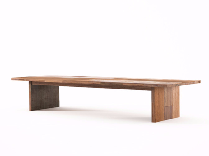 Rectangular wooden coffee table ORGANIK OR08-TMH | Coffee table by KARPENTER