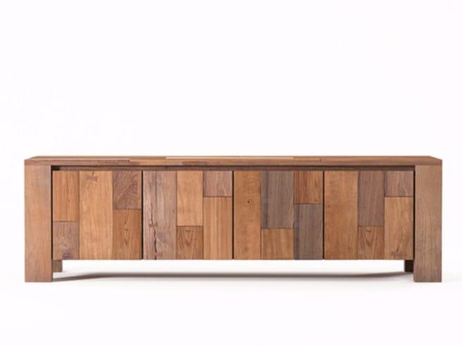 Wooden sideboard with doors ORGANIK OR17-TMH | Sideboard by KARPENTER