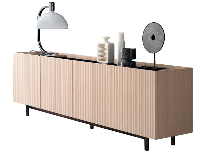 Double-sided sideboard with doors ORI by Presotto