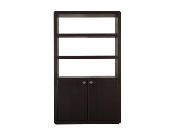 Open wood veneer bookcase ORICK BOOKSHELF by Hamilton Conte Paris