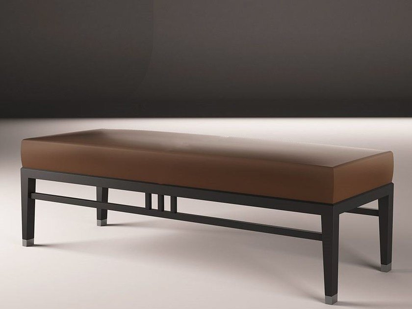 Upholstered leather bench ORIENTAL | Bench by ALIVAR