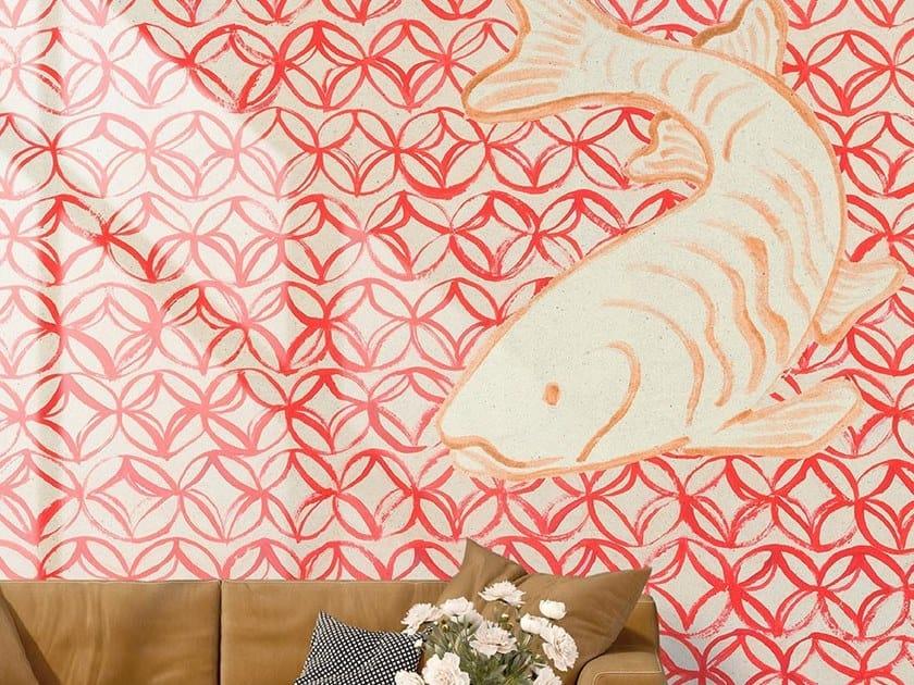 Oriental wallpaper, PVC free, eco, washable ORIENTAL RED by Wallpepper