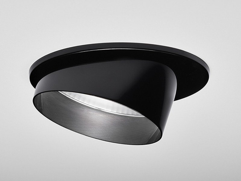 LED adjustable recessed powder coated aluminium spotlight ORIENTE by PURALUCE