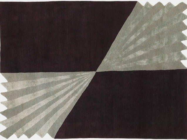 Handmade rectangular rug ORIGAMI by Deirdre Dyson