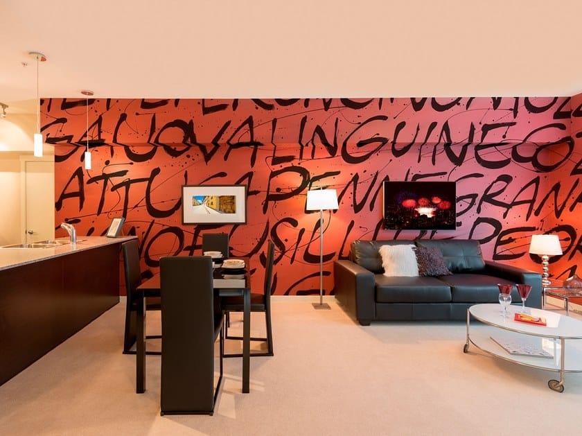 Contemporary style writing glass-fibre wallpaper ORIGANO by Tecnografica Italian Wallcoverings