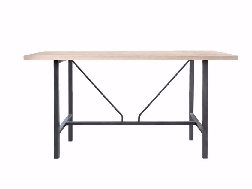 Rectangular solid wood table ORIGIN by KFF