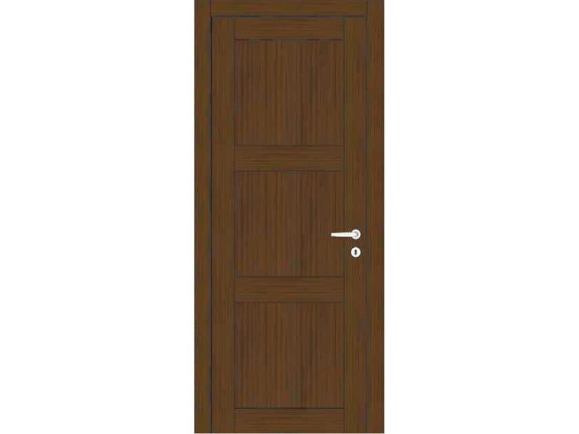 Hinged wooden door ORION 39 ROVERE MOKA by GD DORIGO