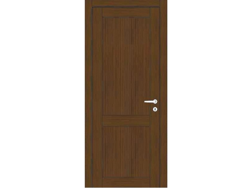 Hinged wooden door ORION 38V1 ROVERE MOKA by GD DORIGO