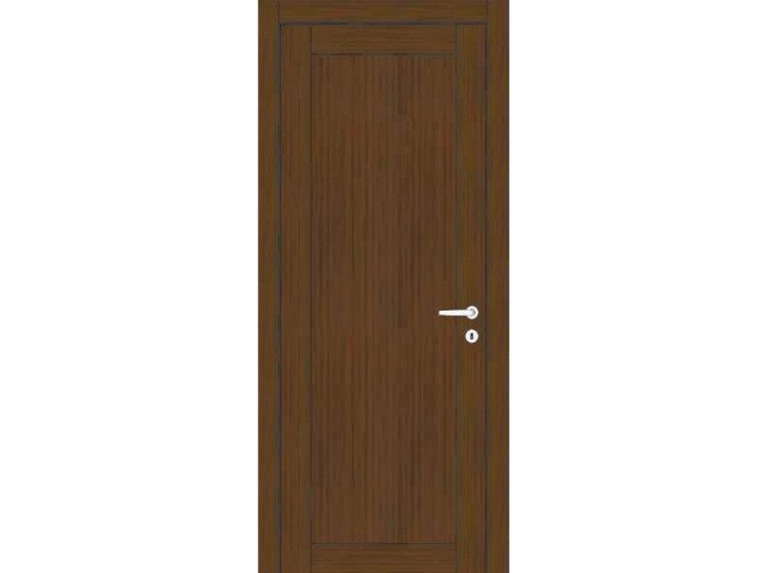 Hinged wooden door ORION 36 ROVERE MOKA by GD DORIGO