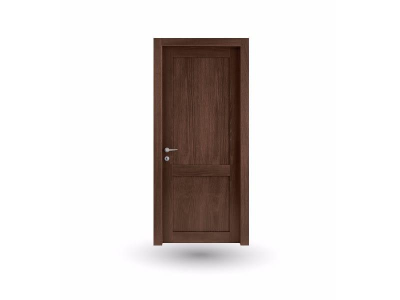 Hinged wooden door ORION 38 FRASSINO MOKA by GD DORIGO