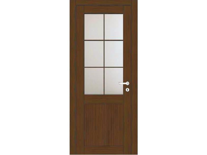 Hinged wood and glass door ORION 38T1 ROVERE MOKA by GD DORIGO