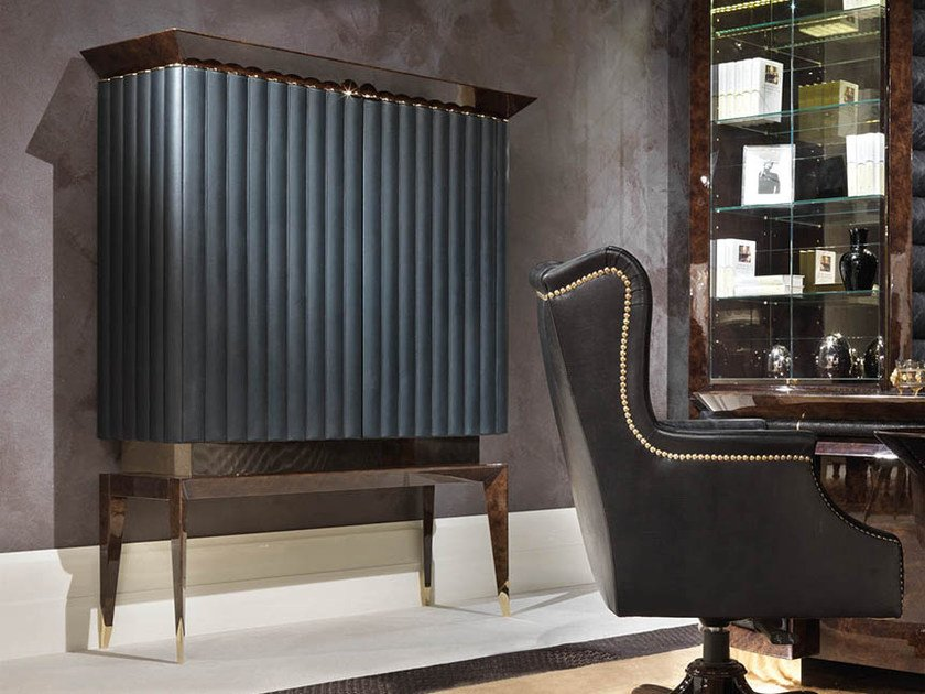 Lacquered wooden bar cabinet ORION | Bar cabinet by Turri