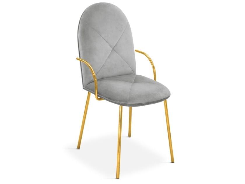 Upholstered velvet chair with armrests ORION | Chair by Scarlet Splendour