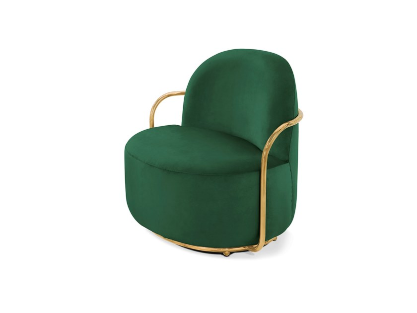 Velvet easy chair with armrests ORION   Easy chair by Scarlet Splendour