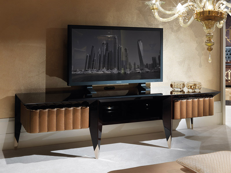 Low lacquered wooden TV cabinet ORION | TV cabinet by Turri