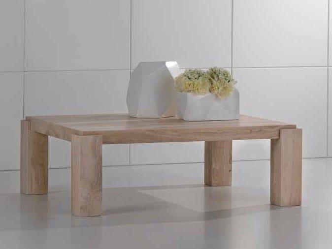 Rectangular travertine coffee table ORIONE   Coffee table by International Marmi