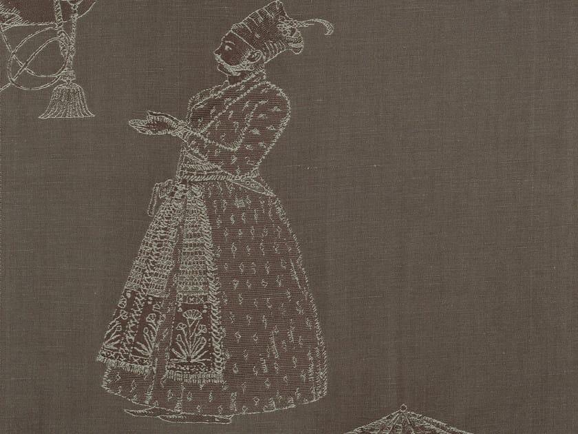 Jacquard cotton and silk fabric with graphic pattern ORISSA by KOHRO