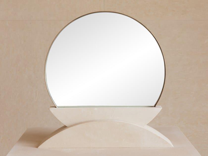 Countertop framed lecce stone mirror ORIZZONTE by PIMAR