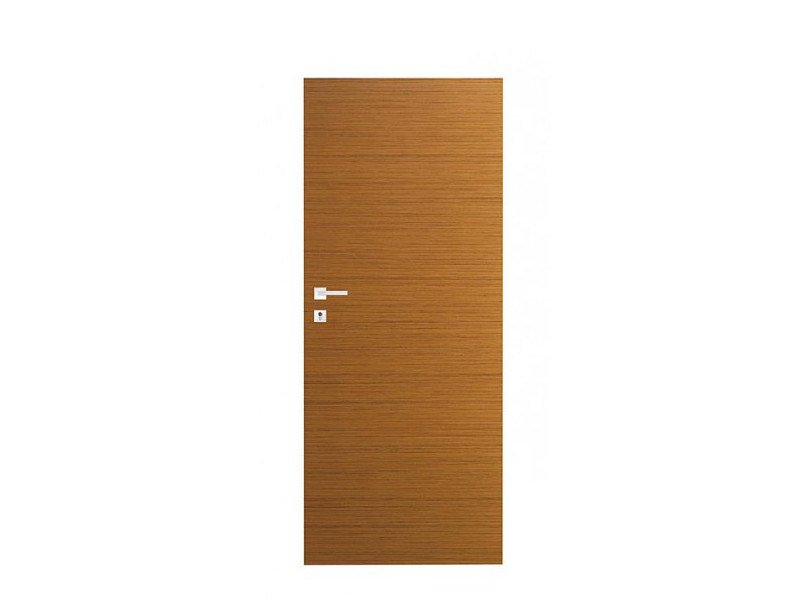 Door panel for indoor use ORIZZONTI LSMOOTH STRIPED TEAK by Metalnova