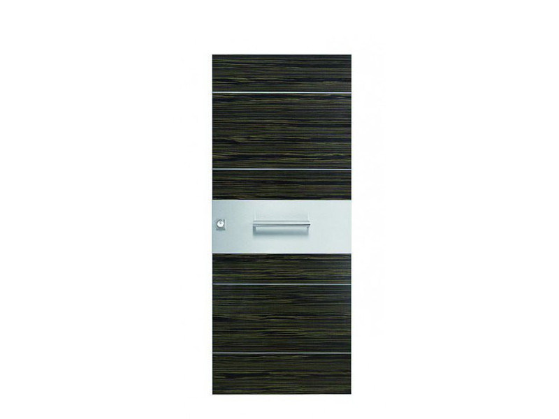 Door panel for indoor use ORIZZONTI ZENITH GRAY EBONY by Metalnova