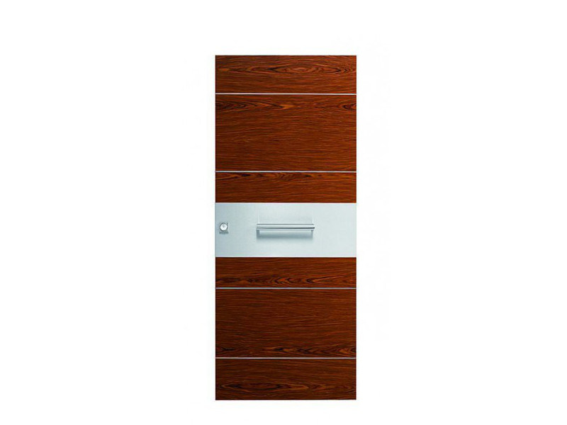 Door panel for indoor use ORIZZONTI ZENITH ROSEWOOD by Metalnova