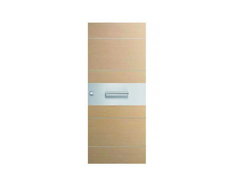 Door panel for indoor use ORIZZONTI ZENITH WHITE OAK by Metalnova