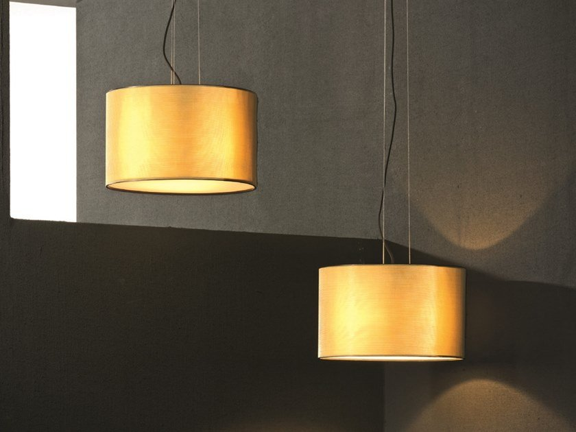 Direct-indirect light brass pendant lamp ORLY | Brass pendant lamp by Pallucco
