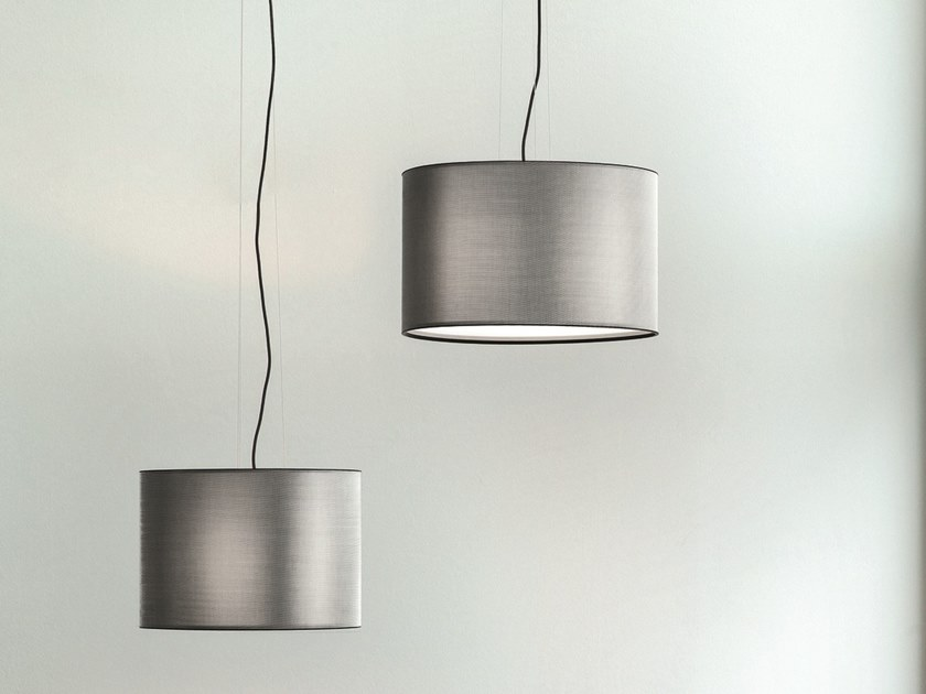 Direct-indirect light stainless steel pendant lamp ORLY | Stainless steel pendant lamp by Pallucco
