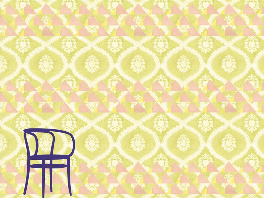 Motif nonwoven wallpaper ORNAMENTAL CRUSH by Francesca Colombo