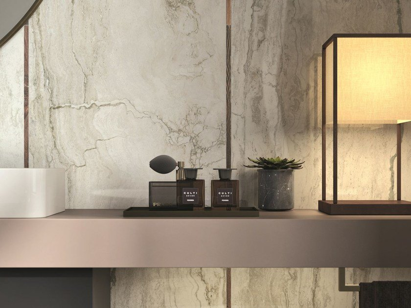 Porcelain stoneware wall tiles with marble effect ORO BIANCO   Wall tiles by Ceramica d'Imola