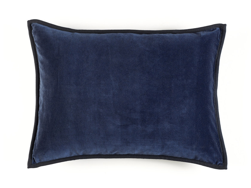 Solid-color rectangular cotton cushion ORPHEE by Élitis