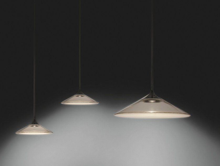 led direct light methacrylate pendant lamp orsa 21 35 by artemide