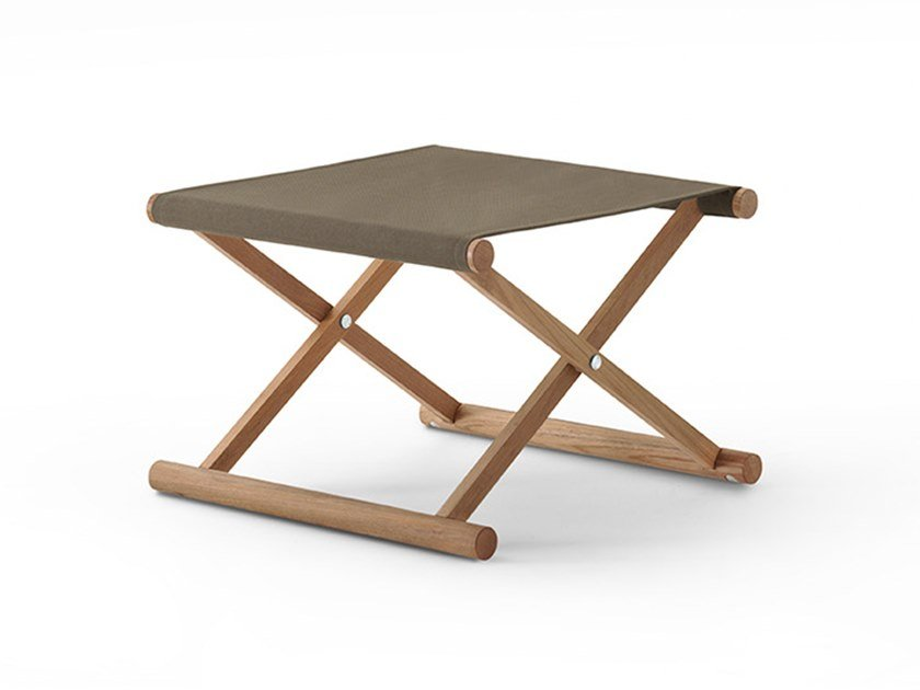 Folding Canatex garden stool ORSON | Stool by RODA