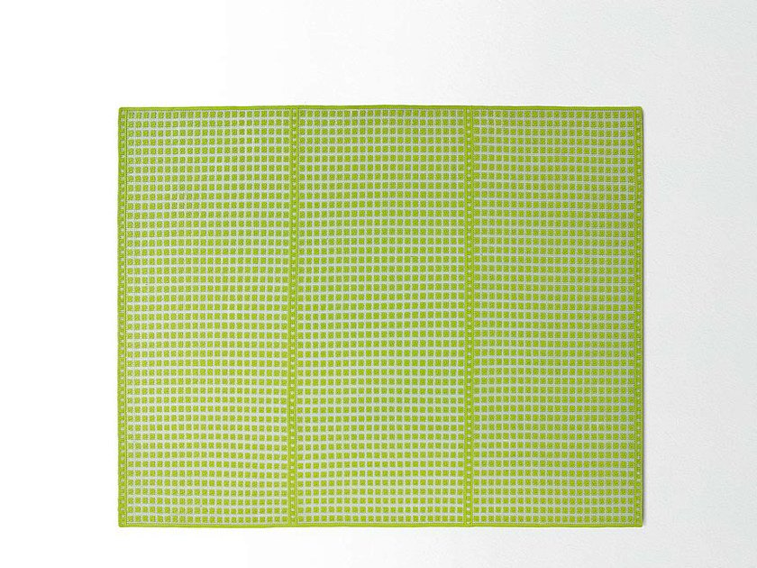 Contemporary style handmade rectangular fabric rug ORTO | Rectangular rug by paola lenti