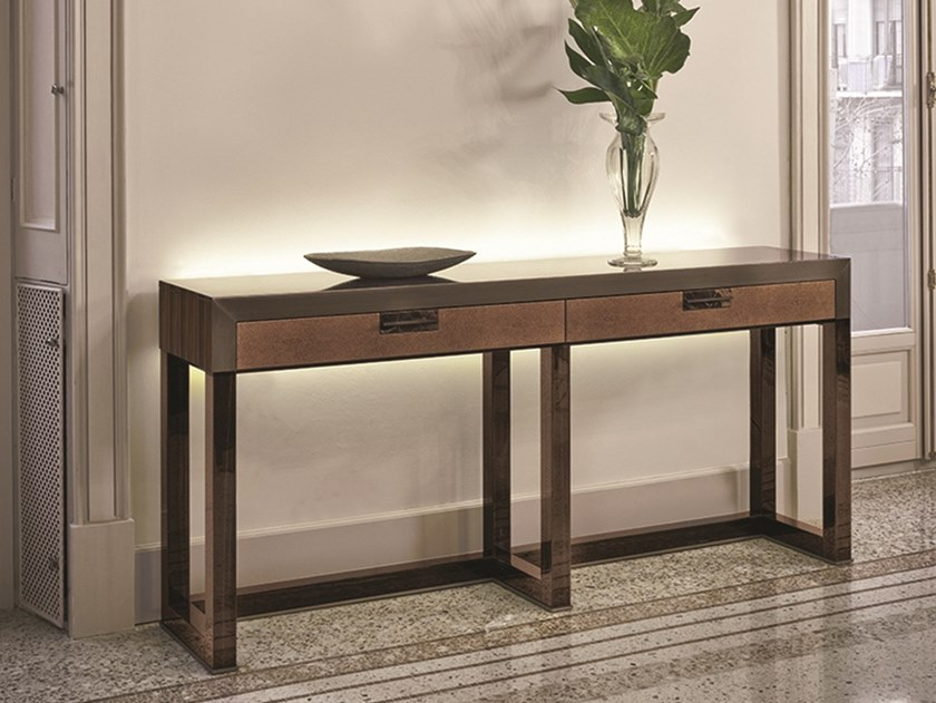 Orwell Wooden Console Table Loveluxe