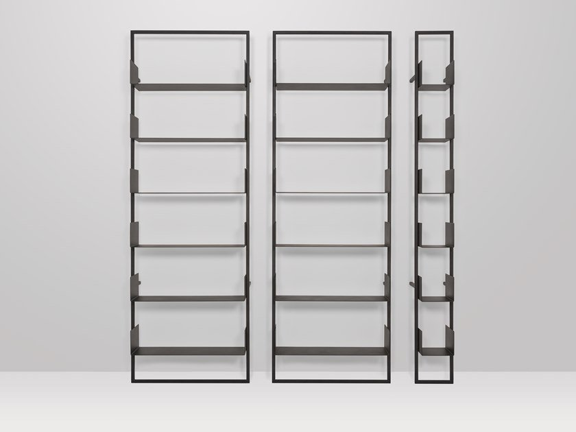 Wall-mounted metal shelving unit OSAKA by Recor Home
