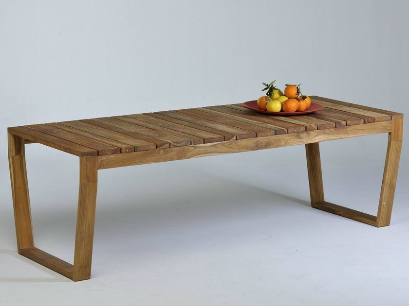 Wooden garden table OSCAR | Garden table by Lgtek Outdoor