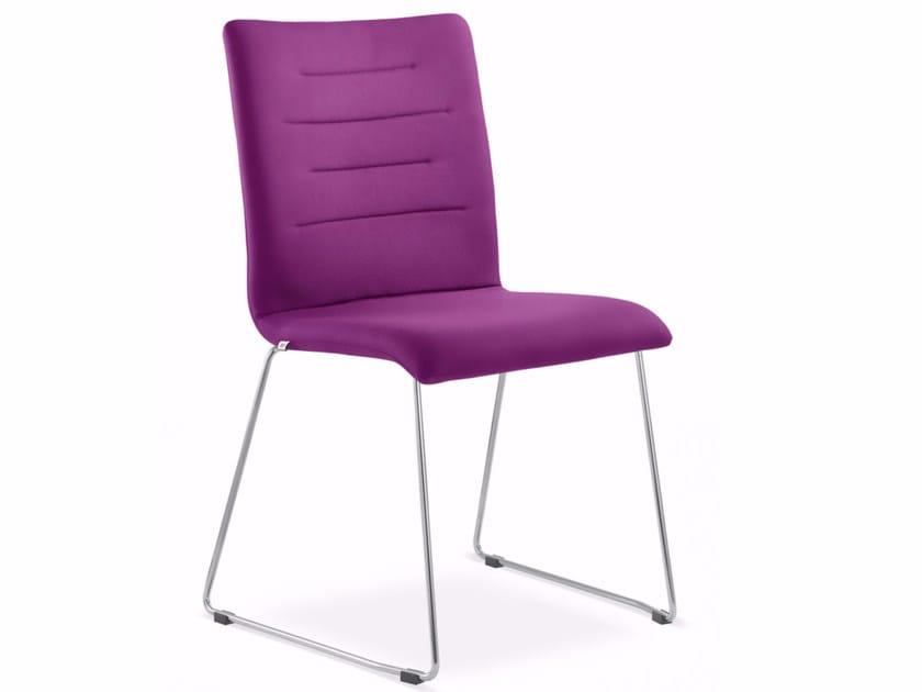 Sedia a slitta in tessuto OSLO 226-N4 by LD Seating