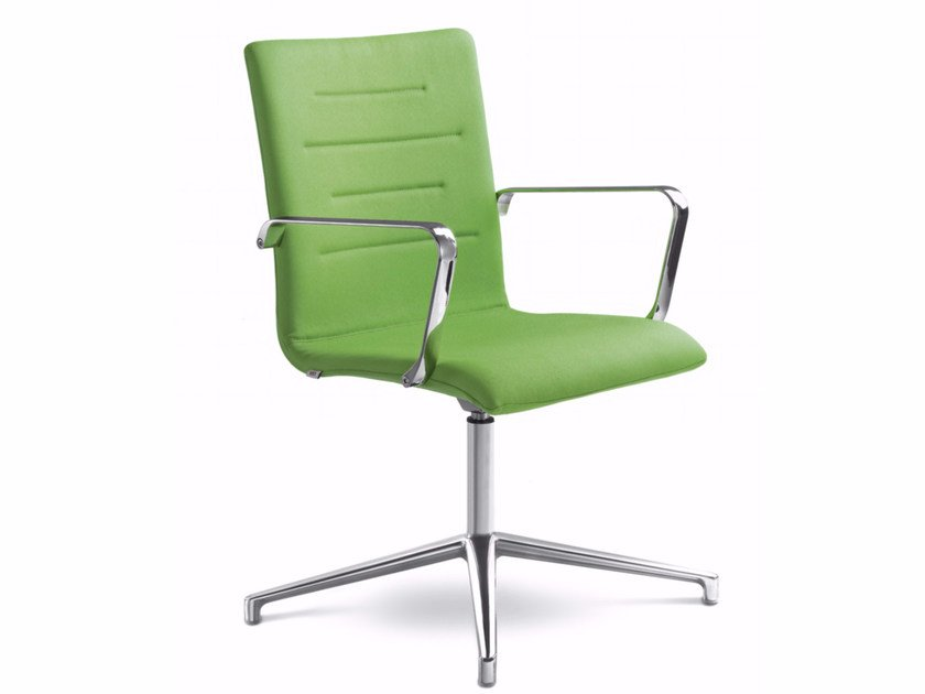 Chair with 4-spoke base with armrests OSLO 227-K-N4 by LD Seating