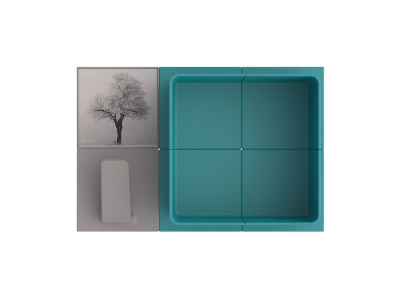 Wall cabinet with shelves OSLO by Add Plus