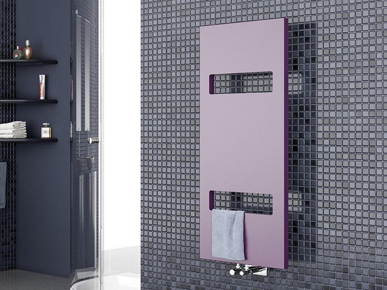 Vertical wall-mounted towel warmer OSLO by XÒ by Metalform