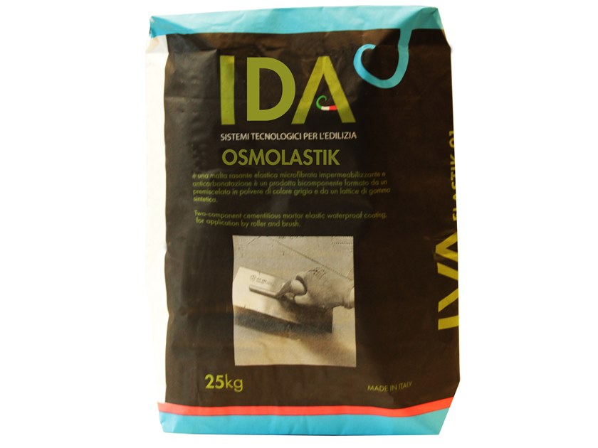 Cement-based waterproofing coating OSMOLASTIK by IDA